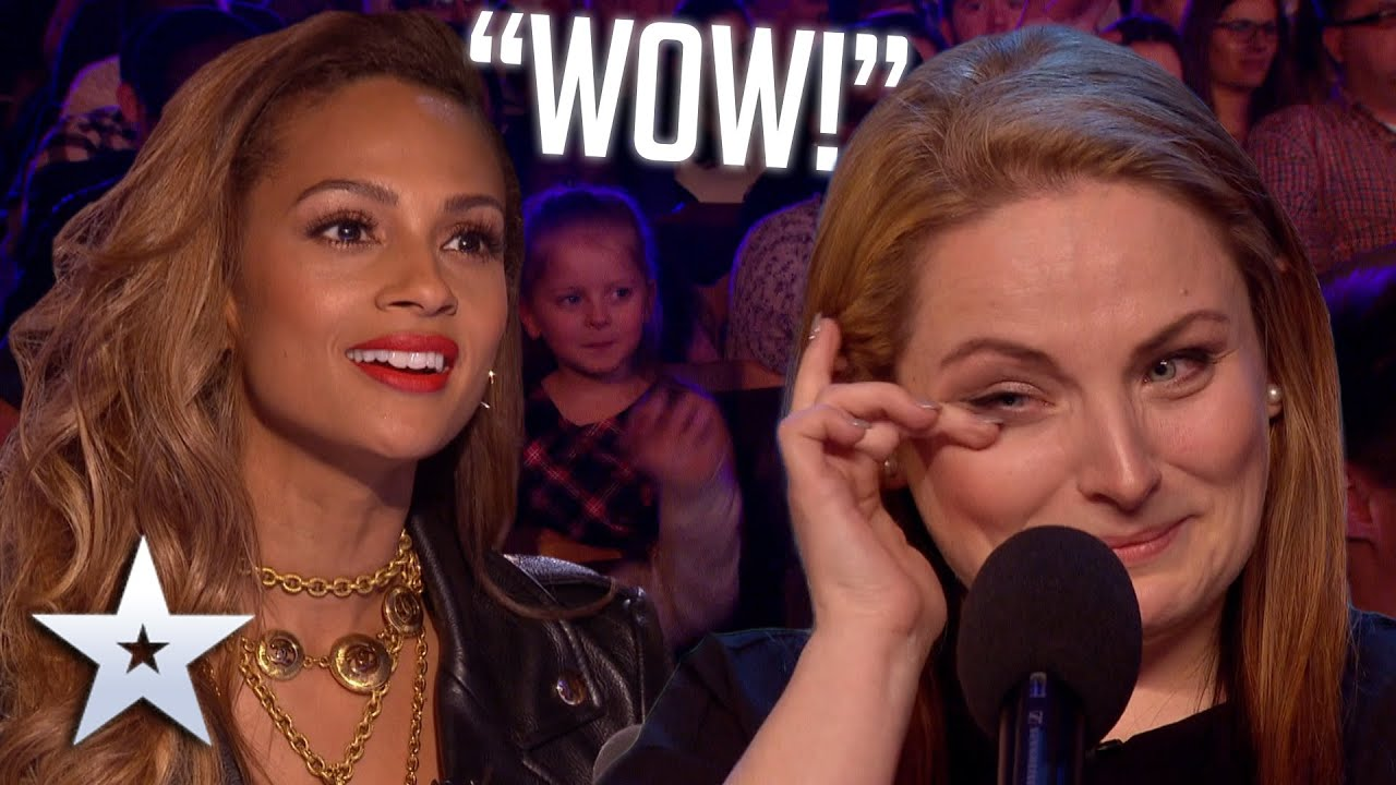 Mum of five WOWS with voice from a DIFFERENT ERA! Auditions BGT Series 9 HD quality image