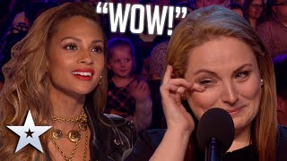 Mum of five WOWS with voice from a DIFFERENT ERA! Auditions BGT Series 9 MD quality image