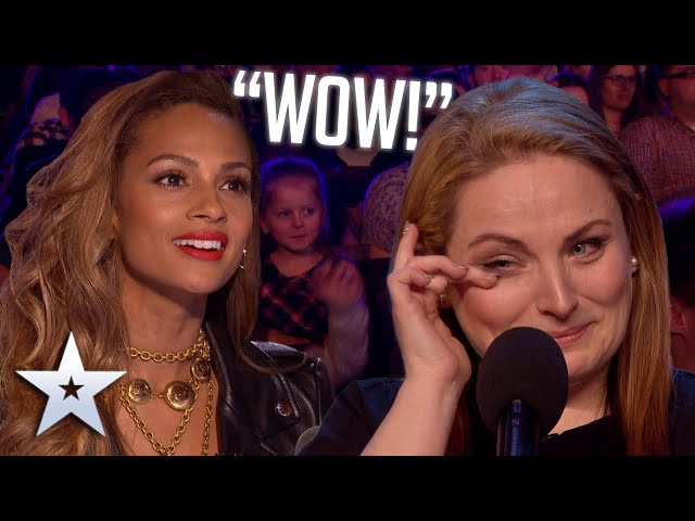 Mum of five WOWS with voice from a DIFFERENT ERA! Auditions BGT Series 9 HQ quality image