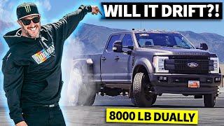 Ken Block Drifts A Dually! 8,000 lbs. of Diesel Powered Ford F-450 Tire Shredding Action Screenshot