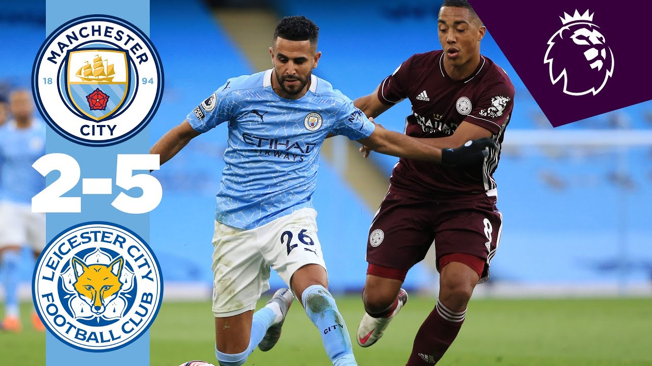HIGHLIGHTS MAN CITY 2-5 LEICESTER CITY, PREMIER LEAGUE HD quality image