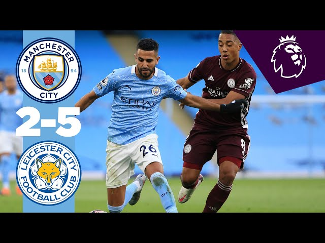 HIGHLIGHTS MAN CITY 2-5 LEICESTER CITY, PREMIER LEAGUE HQ quality image
