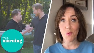 Royal Expert's Reaction to Prince Harry's James Corden Interview | This Morning Screenshot
