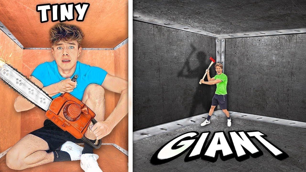 TINY VS GIANT UNBREAKABLE BOX!! HD quality image