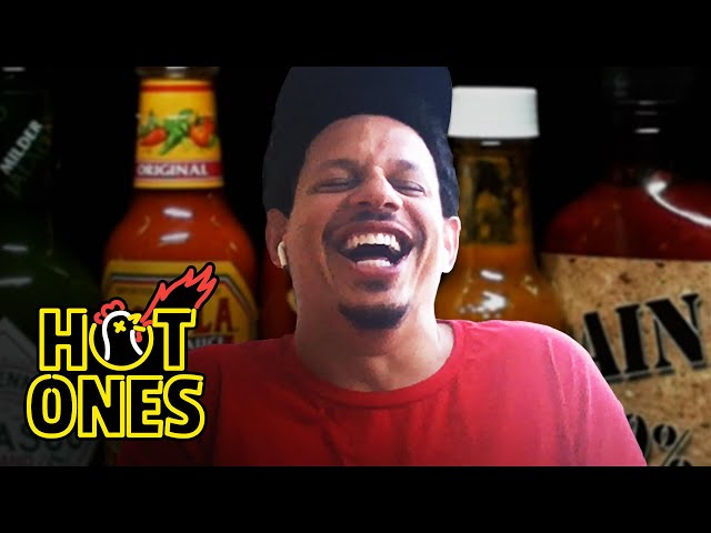 Eric Andre Enters a Fugue State While Eating Spicy Wings Hot Ones HQ quality image