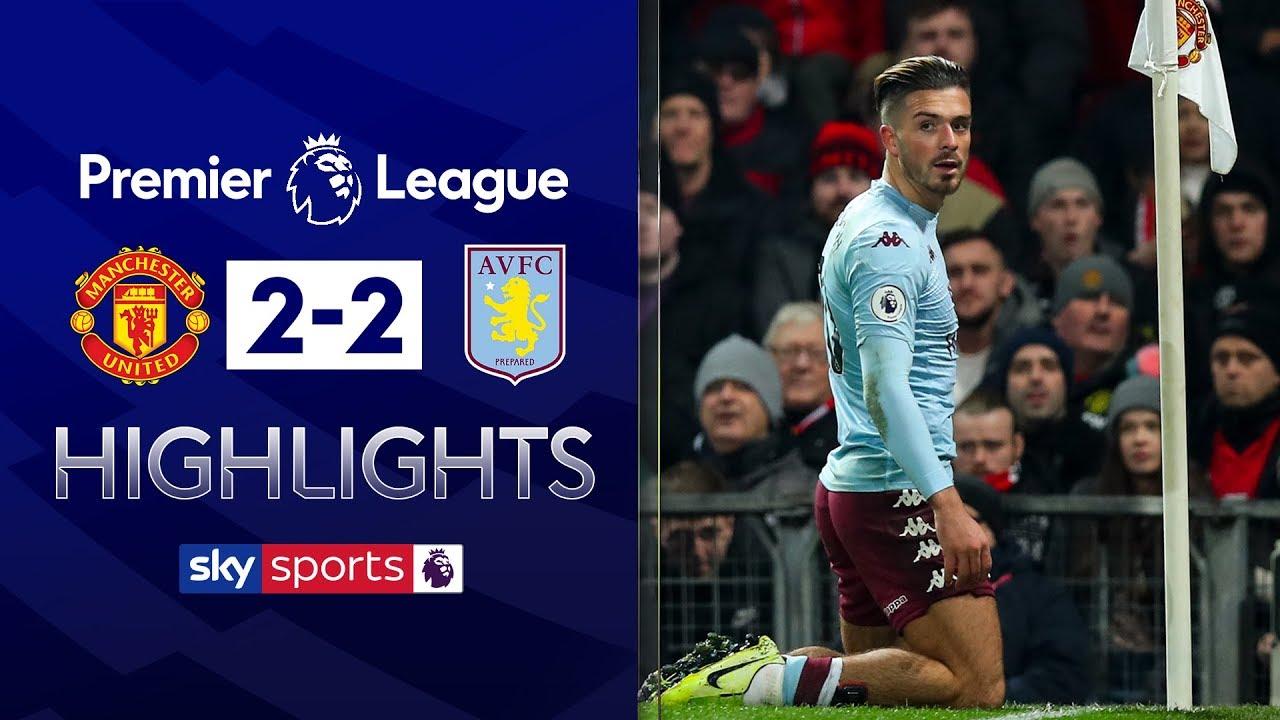 Jack Grealish scores SCREAMER Manchester United 2-2 Aston Villa Premier League Highlights HD quality image
