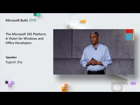 The Microsoft 365 Platform: A Vision for Windows and Office Developers - TK02 MQ quality image
