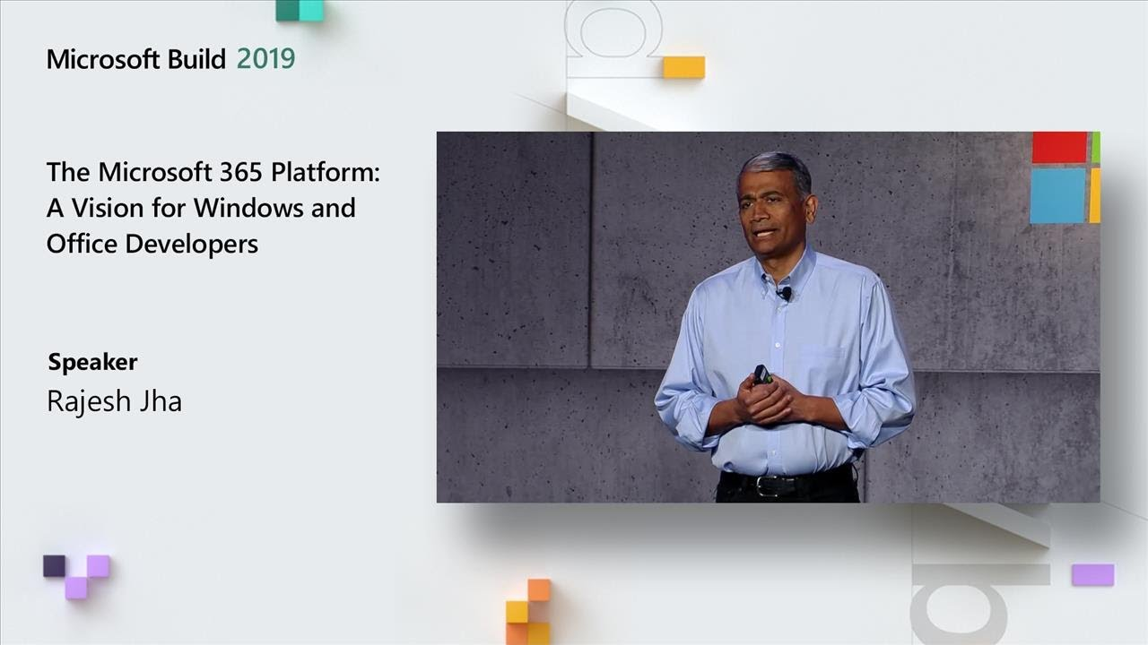 The Microsoft 365 Platform: A Vision for Windows and Office Developers - TK02 HD quality image