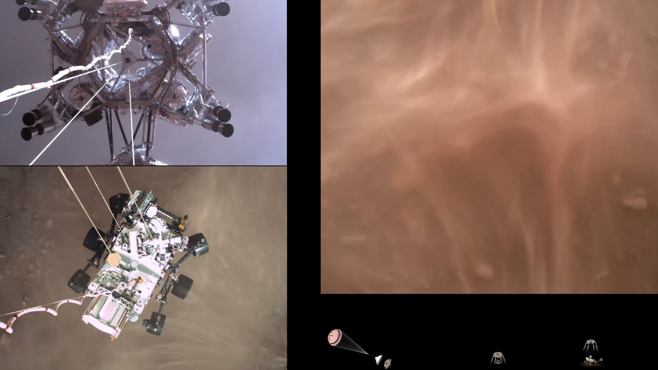 Perseverance Rovers Descent and Touchdown on Mars (Official NASA Video) HD quality image