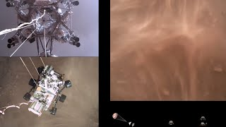 Perseverance Rovers Descent and Touchdown on Mars (Official NASA Video) MD quality image