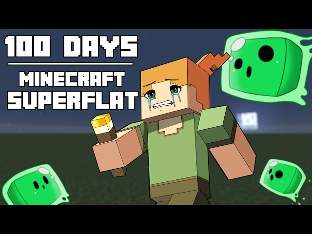 100 Days - [Minecraft Superflat] HQ quality image