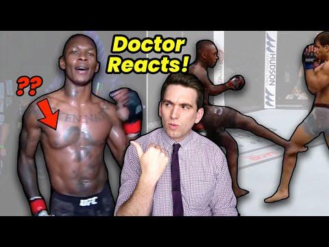 Israel Adesanya's Chest & His PERFECT Leg Kicks! Doctor Reacts to UFC 253 MQ quality image