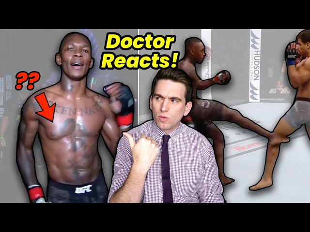 Israel Adesanya's Chest & His PERFECT Leg Kicks! Doctor Reacts to UFC 253 HQ quality image