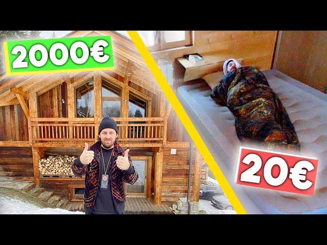 Chalet 2000 la nuit VS Chalet 20 HQ quality image