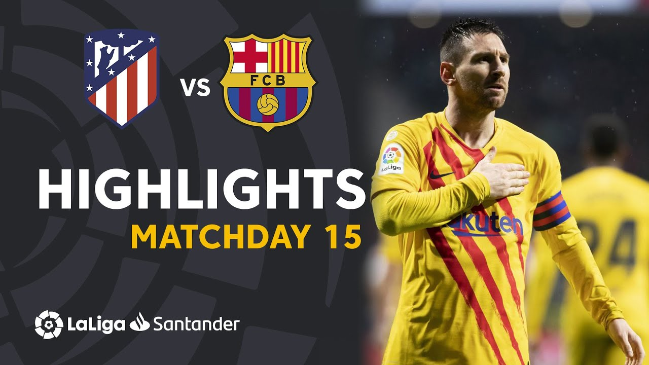 Highlights Atltico de Madrid vs FC Barcelona (0-1) HD quality image