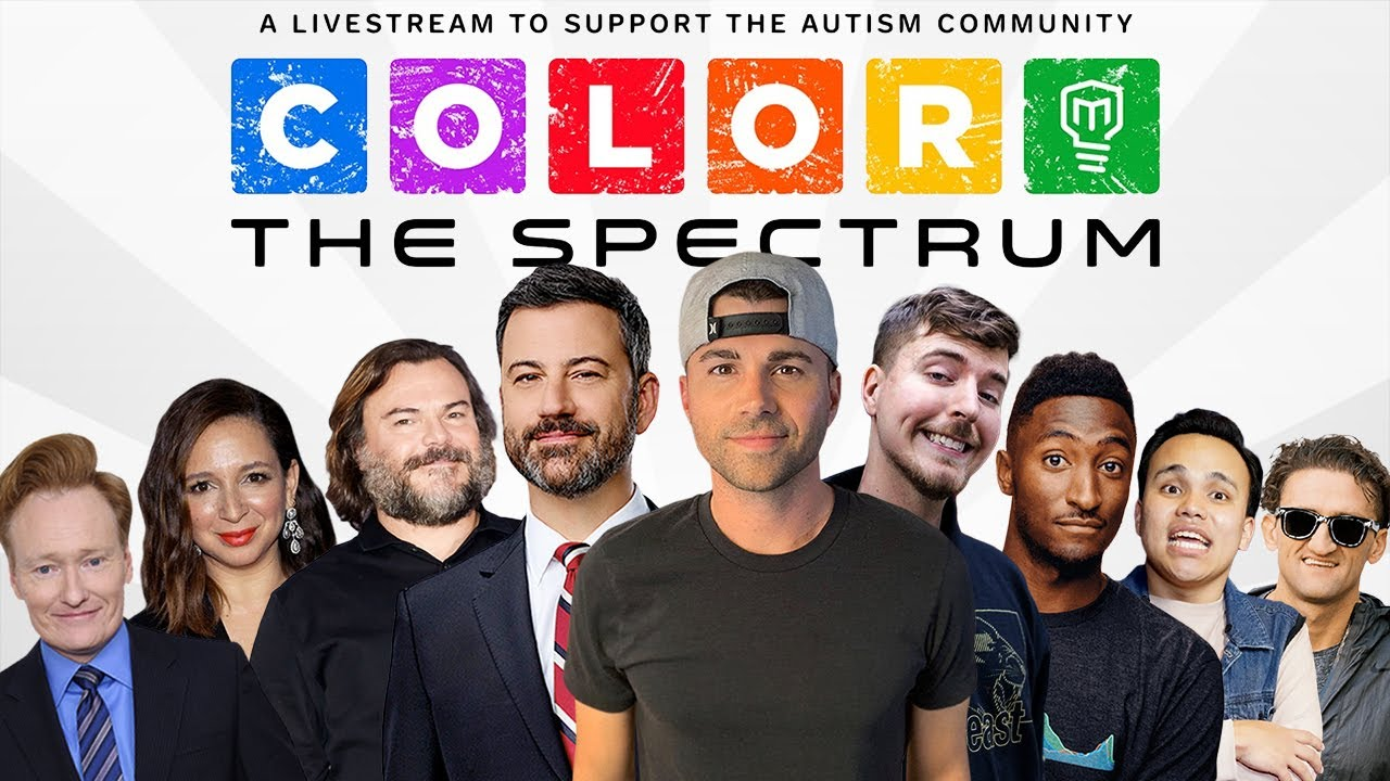 Color the Spectrum LIVE- Mark Rober and Jimmy Kimmel HD quality image