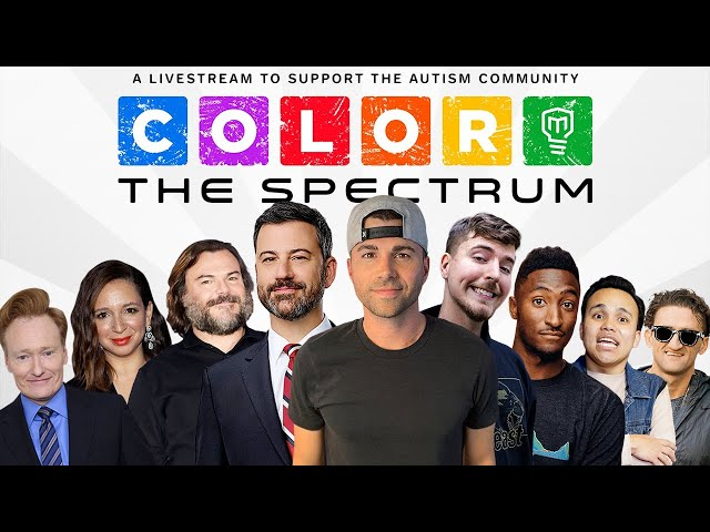 Color the Spectrum LIVE- Mark Rober and Jimmy Kimmel HQ quality image