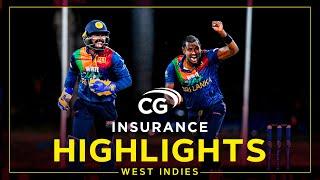 Highlights | West Indies v Sri Lanka | Hasaranga Stars Despite McCoy Flourish |2nd CG Insurance T20I Screenshot