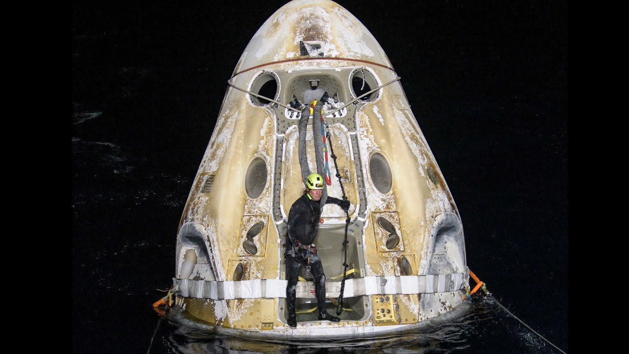 NASA's SpaceX Crew-1 Mission Splashes Down HD quality image