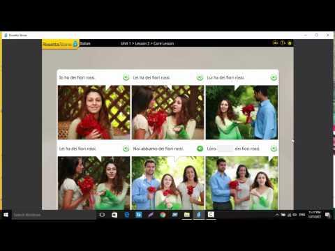 Rosetta Stone Italian unit 1 lesson 3 MQ quality image