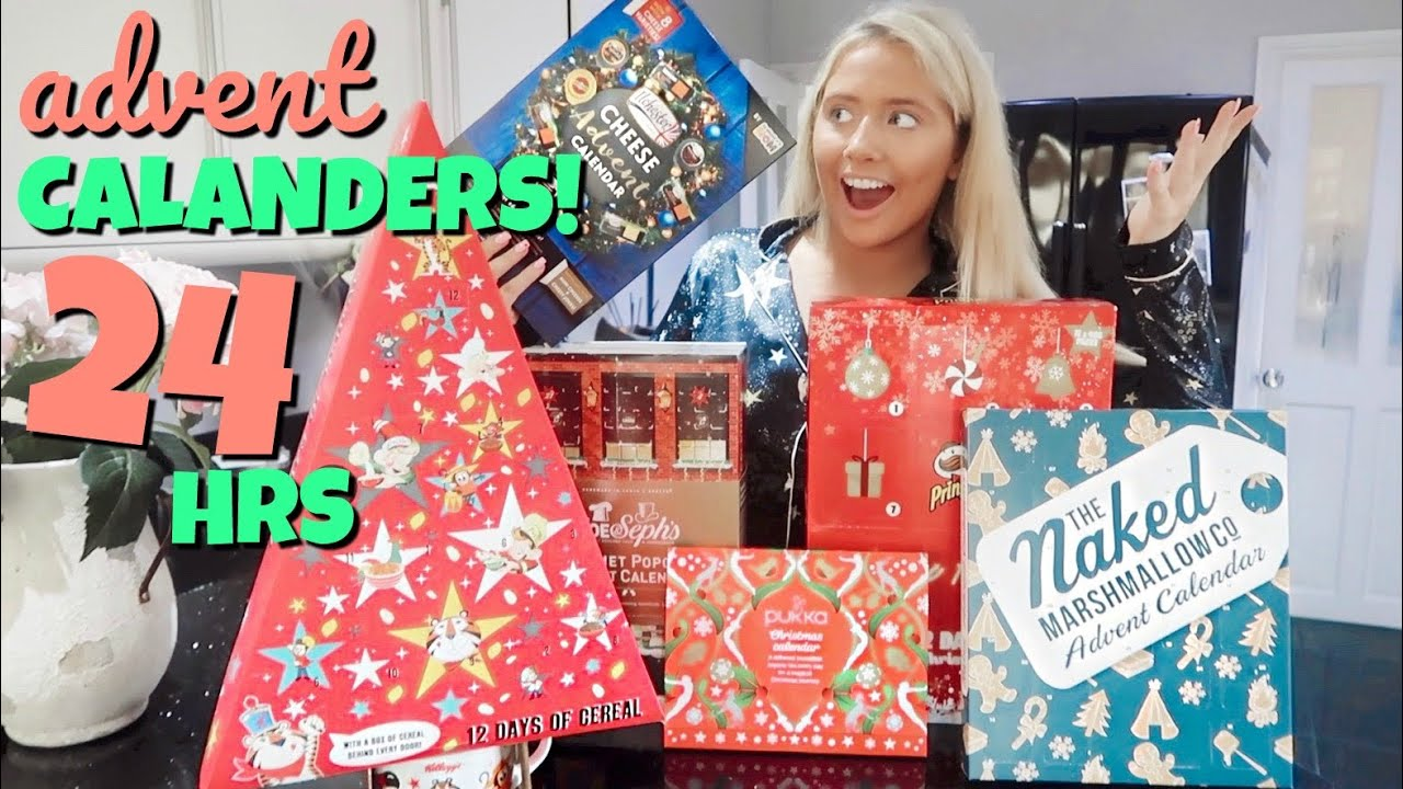 I only ate ADVENT CALENDAR foods for 24hours!! HD quality image