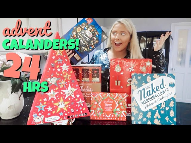 I only ate ADVENT CALENDAR foods for 24hours!! HQ quality image