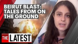 Beirut blast: two women on the ground in Lebanon describe the explosion and aftermath | 7NEWS Screenshot