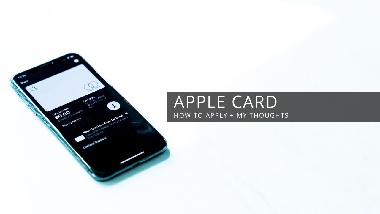 Apple Card - How To Apply + My Thoughts HD quality image