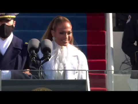 Jennifer Lopez - This Land Is Your Land & America, The Beautiful - Inauguration 2021 Performance MQ quality image