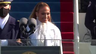 Jennifer Lopez - This Land Is Your Land & America, The Beautiful - Inauguration 2021 Performance MD quality image