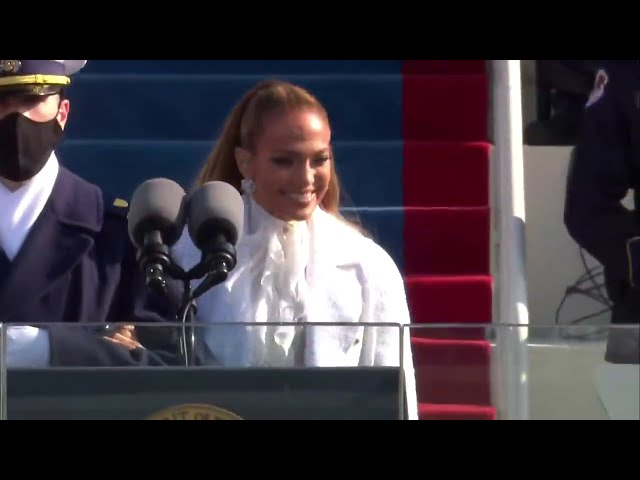 Jennifer Lopez - This Land Is Your Land & America, The Beautiful - Inauguration 2021 Performance HQ quality image