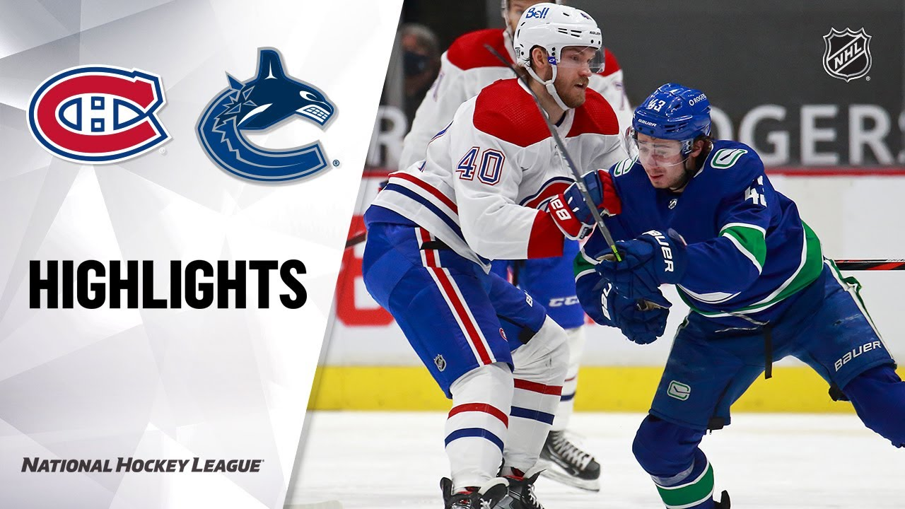 Canadiens @ Canucks 1/21/21 NHL Highlights HD quality image