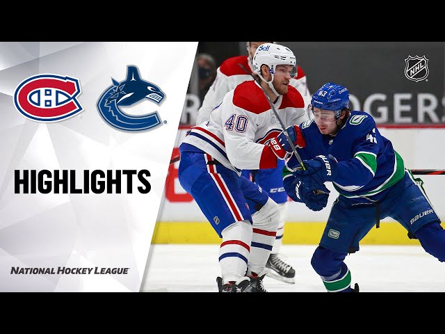 Canadiens @ Canucks 1/21/21 NHL Highlights HQ quality image
