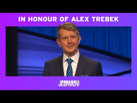 Ken Jennings Honors Alex Trebek In His First Episode as Guest Host JEOPARDY! MQ quality image