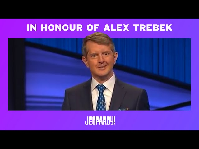 Ken Jennings Honors Alex Trebek In His First Episode as Guest Host JEOPARDY! HQ quality image