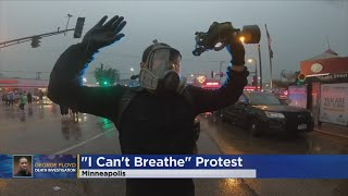 Protesters Clash With Minneapolis Police Screenshot