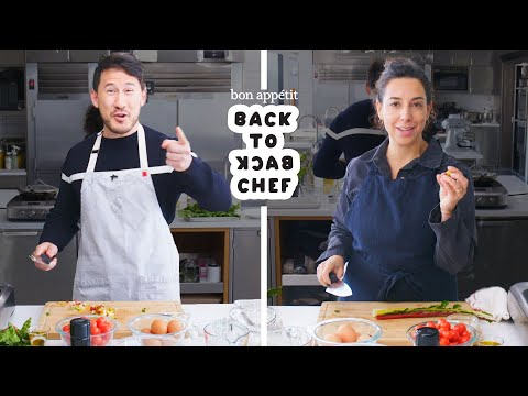 Markiplier Tries to Keep Up with a Professional Chef Back-to-Back Chef Bon Apptit MQ quality image