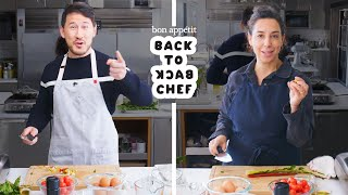 Markiplier Tries to Keep Up with a Professional Chef Back-to-Back Chef Bon Apptit MD quality image