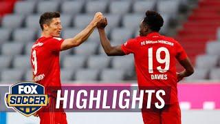 Bayern crushes Fortuna Düsseldorf, inches closer to 8th straight title | 2020 Bundesliga Highlights Screenshot
