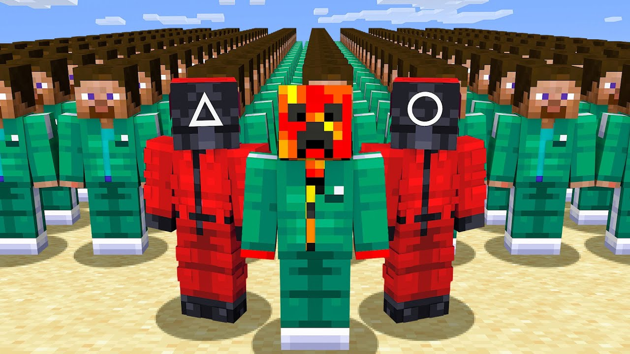 Playing SQUID GAME in Minecraft! HD quality image