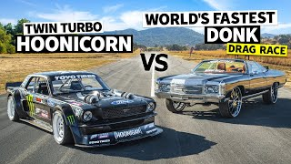 World's Fastest Donk (1,500hp) Vs Ken Block's 1,400hp AWD Ford Mustang // Hoonicorn Vs the World Screenshot