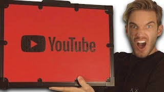 Unboxing 100 MIL YouTube AWARD!! MD quality image