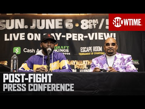 Mayweather vs. Paul: Post-Fight Press Conference SHOWTIME PPV MQ quality image