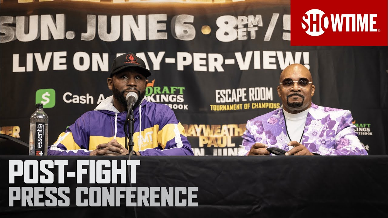 Mayweather vs. Paul: Post-Fight Press Conference SHOWTIME PPV HD quality image