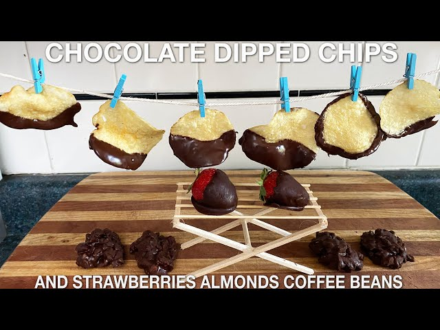 Chocolate Covered Potato Chips Strawberries Almonds Espresso Beans (episode 113) HQ quality image