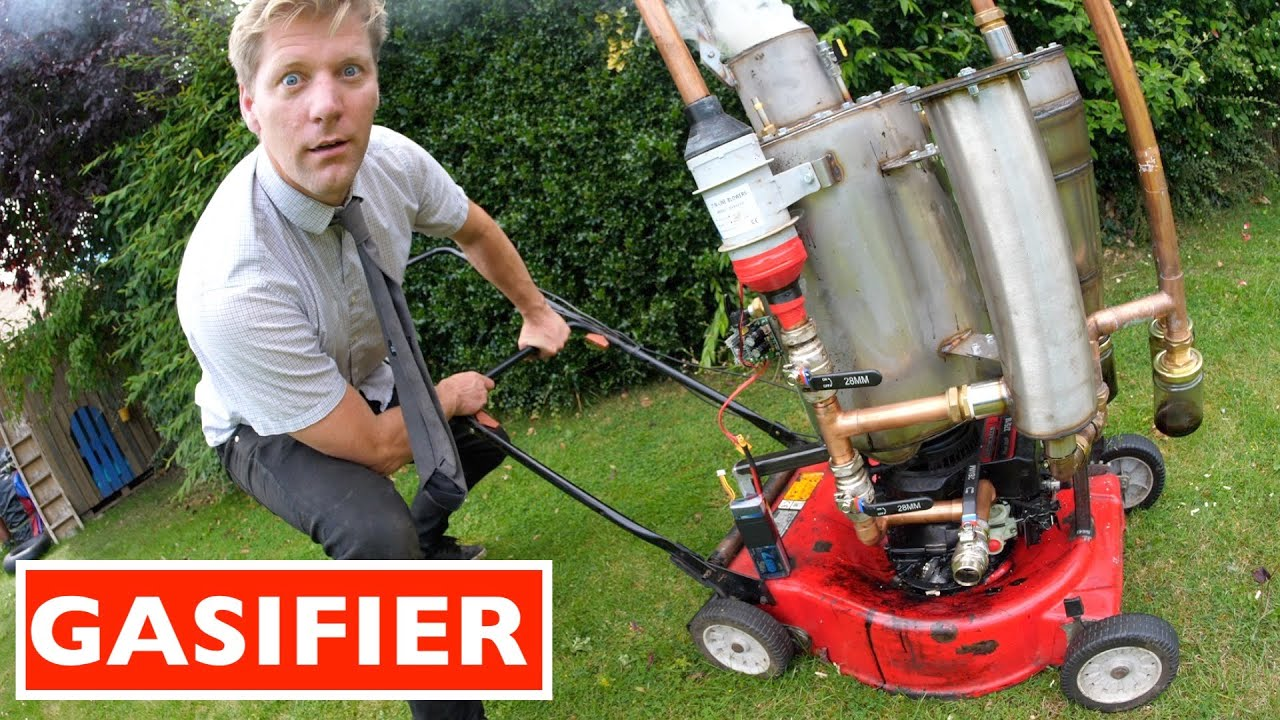 WOOD POWERED LAWN MOWER HD quality image