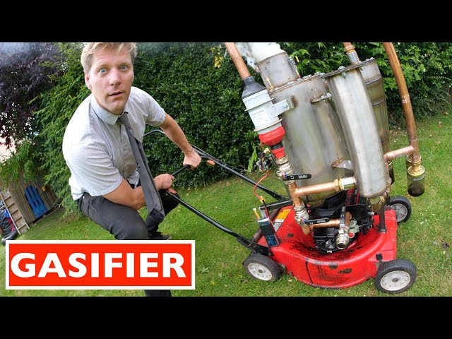 WOOD POWERED LAWN MOWER HQ quality image