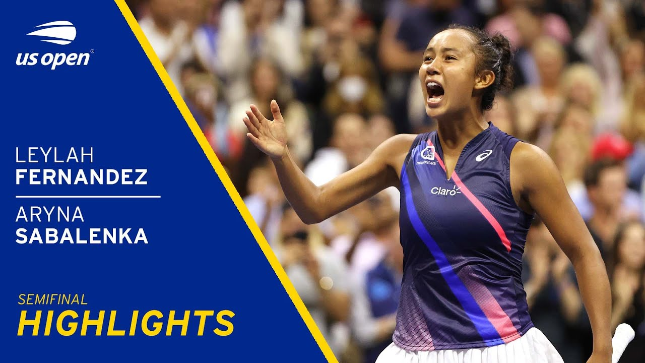 Leylah Fernandez vs Aryna Sabalenka Highlights 2021 US Open Semifinal HD quality image