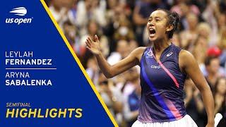 Leylah Fernandez vs Aryna Sabalenka Highlights 2021 US Open Semifinal MD quality image