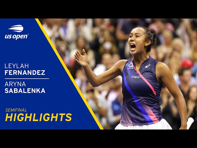 Leylah Fernandez vs Aryna Sabalenka Highlights 2021 US Open Semifinal HQ quality image